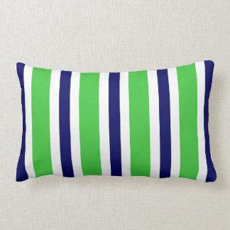 Regalo verde de la almohada de la raya de los azul