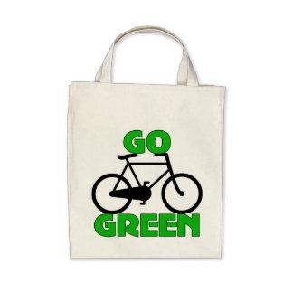 Regalo verde de la bicicleta bolsa