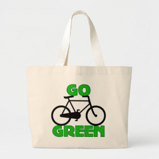 Regalo verde de la bicicleta bolsa lienzo