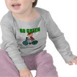 Regalo verde de la bicicleta camisetas