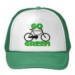Regalo verde de la bicicleta gorro de camionero