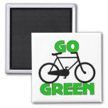 Regalo verde de la bicicleta iman para frigorífico