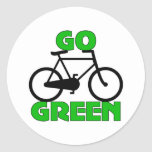 Regalo verde de la bicicleta pegatina