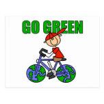 Regalo verde de la bicicleta postal
