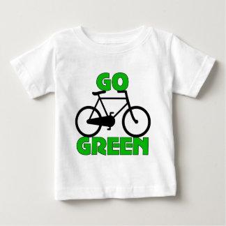 Regalo verde de la bicicleta remeras