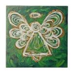Regalo verde de la teja del ángel