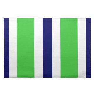 Regalo verde de Placemat de la raya de los azules  Mantel Individual