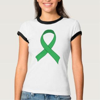 Regalo verde personalizado de la conciencia de la playera