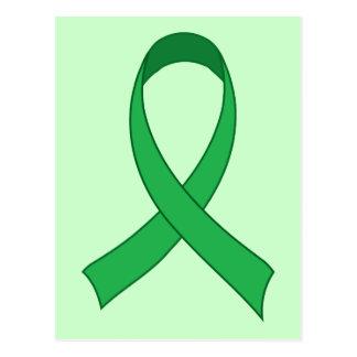 Regalo verde personalizado de la conciencia de la postales