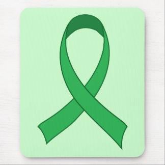 Regalo verde personalizado de la conciencia de la tapetes de ratones