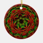 Regalo verde rojo fungoso extranjero del diseño