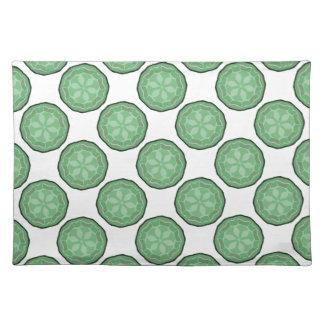 Regalo verde y blanco bonito de Placemat del diseñ Mantel Individual