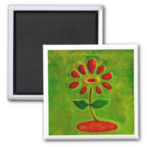 Regalo verde y rojo de Magnet_Art del refrigerador Iman De Frigorífico