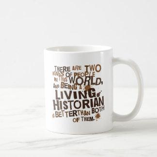 Regalo vivo del historiador taza de café