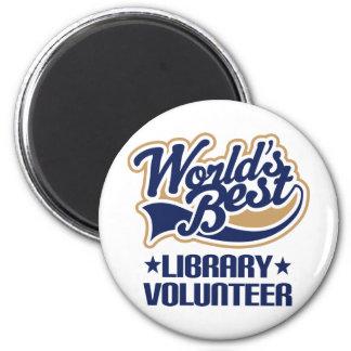 Regalo voluntario de la biblioteca imán redondo 5 cm
