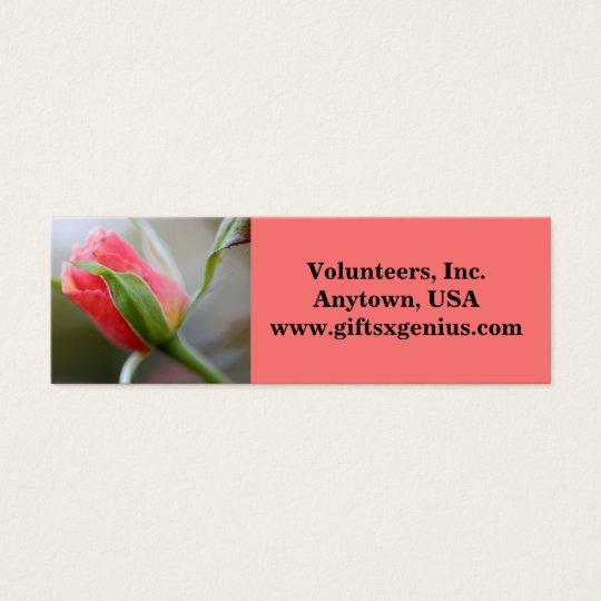 Regalo voluntario de motivación del aprecio tarjetas de visita mini