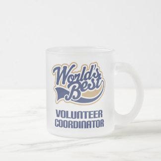 Regalo voluntario del coordinador (mundos mejores) taza de cristal