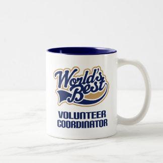 Regalo voluntario del coordinador (mundos mejores) taza de dos tonos