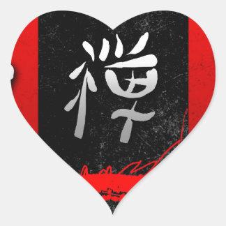 Regalos 03 del estilo del vintage del Feng-shui Pegatina En Forma De Corazón
