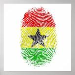Regalos 100% del orgullo de la DNA de Ghanian Ghan Poster
