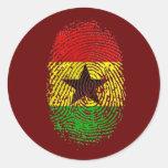 Regalos 100% del orgullo de la DNA de Ghanian Pegatinas Redondas