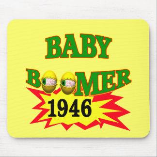 Regalos 1946 de las camisetas del nacido en el bab tapetes de raton