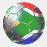 Regalos 2010/2011 del fútbol de Suráfrica Pegatina Redonda