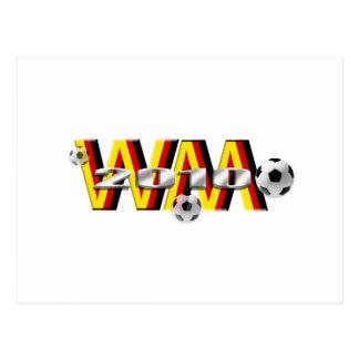 Regalos 2010 de WM DE Fussball Tarjeta Postal
