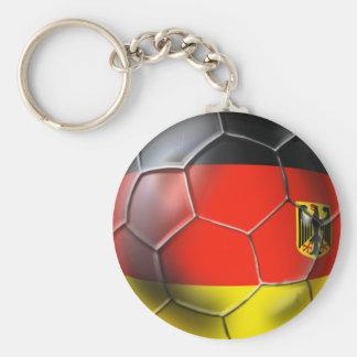 Regalos 2010 del balón de fútbol de Deutschland Fu Llavero Redondo Tipo Pin
