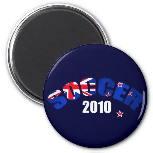 Regalos 2010 del fútbol de Nueva Zelanda del fútbo Imán Redondo 5 Cm
