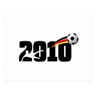 Regalos 2010 del logotipo del fútbol de Alemania Tarjeta Postal