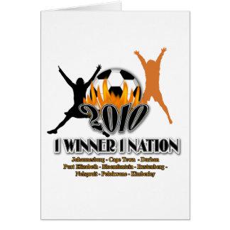 Regalos 2010 y recuerdos de la nación de anfitrión tarjeta de felicitación