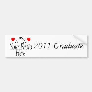 Regalos 2011 de la graduación pegatina de parachoque