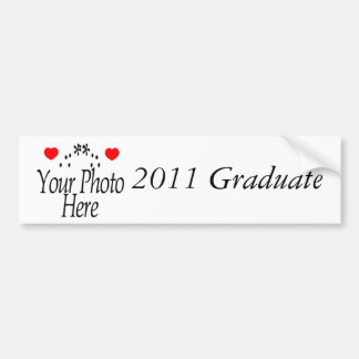Regalos 2011 de la graduación etiqueta de parachoque
