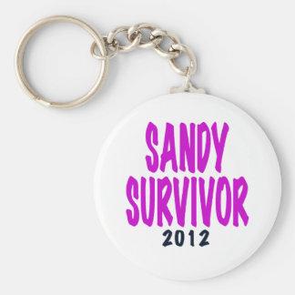 Regalos 2012 del superviviente de Sandy del chartr Llavero Redondo Tipo Pin