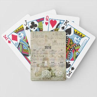 Regalos 2016 del Año Nuevo de París de la torre Baraja Cartas De Poker