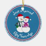 Regalos 50th-Christmas del aniversario de los Ornamento Para Arbol De Navidad