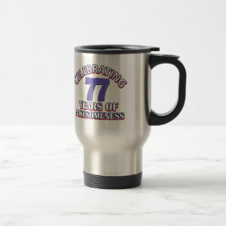 Regalos 77 años impresionantes taza de viaje