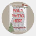 Regalos adaptables de la foto del navidad tradicio pegatinas