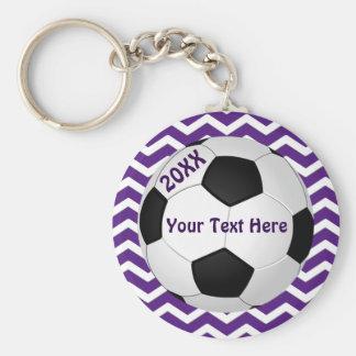 Regalos adaptables del bolso de Goodie del fútbol Llavero Redondo Tipo Pin