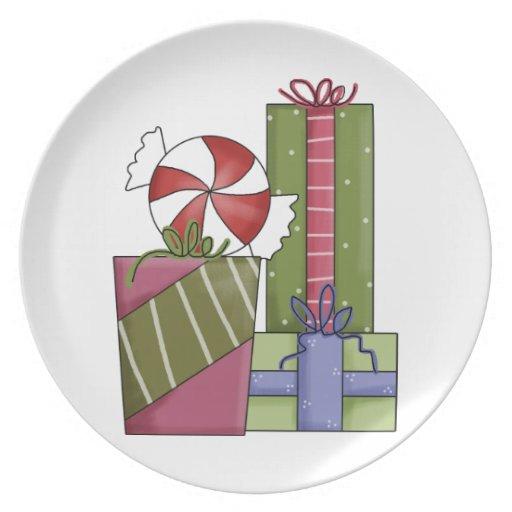 Regalos adaptables del navidad del país, ornamento platos para fiestas