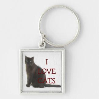 Regalos adaptables y saludos del amante del gato llaveros personalizados