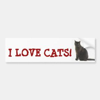 Regalos adaptables y saludos del amante del gato pegatina para auto