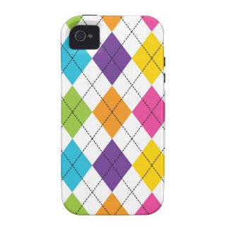 Regalos adolescentes del arco iris de Argyle del m Case-Mate iPhone 4 Carcasa