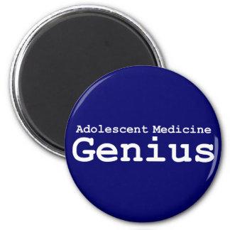 Regalos adolescentes del genio de la medicina imán redondo 5 cm