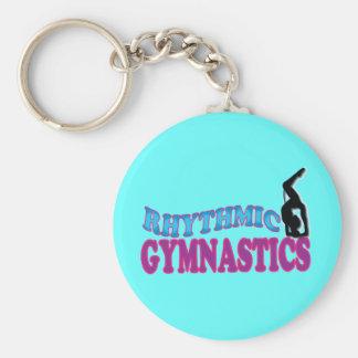 Regalos adorables de la gimnasia rítmica llaveros personalizados