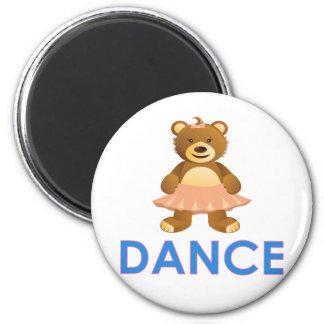 Regalos adorables del oso de la danza imán redondo 5 cm
