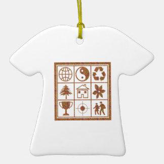 REGALOS agradables de los revendedores de la Adorno De Cerámica En Forma De Camiseta