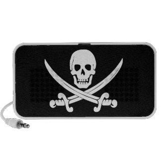 Regalos alegres del cráneo de Rogelio y del pirata Altavoces De Viaje