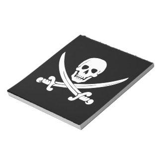 Regalos alegres del cráneo de Rogelio y del pirata Libretas Para Notas